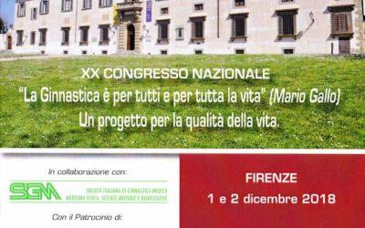 XX Congresso Nazionale: La Ginnastica è per tutti e per tutta la vita