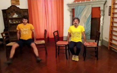 Trentacinquesima lezione di Ginnastica colore giallo arancio .Pre/sportiva